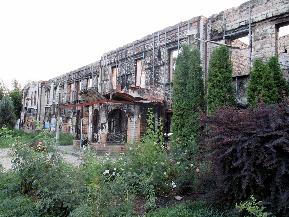 Luhansk in 2015, after recent conflict. Image: Denis Boyarinov.