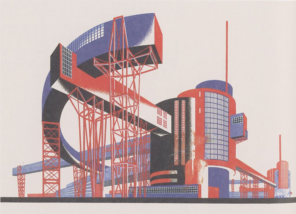 Constructivist experiments by Iakov Chernikhov, 1925-32. Le Corbusier's early work was a major source of inspiration for the Constructivists.