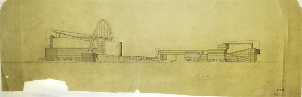 Le Corbusier's proposal for the Palace of the Soviets, drawn in 1931