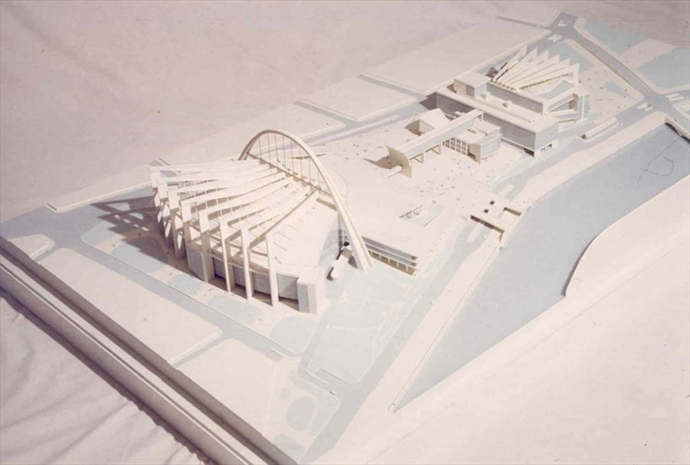 1932 model of Le Corbusier's proposal for the Palace of the Soviets