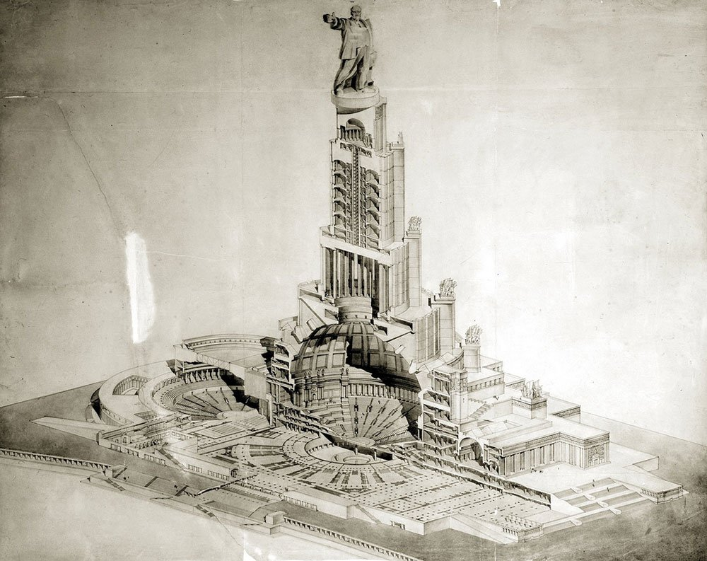 The winning proposal for the Palace of the Soviets competition, by Boris Iofan