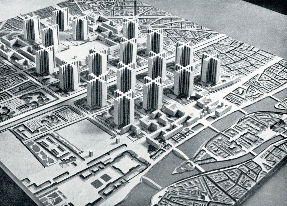 Le Corbusier's ville contemporaine, as he envisaged it in 1925