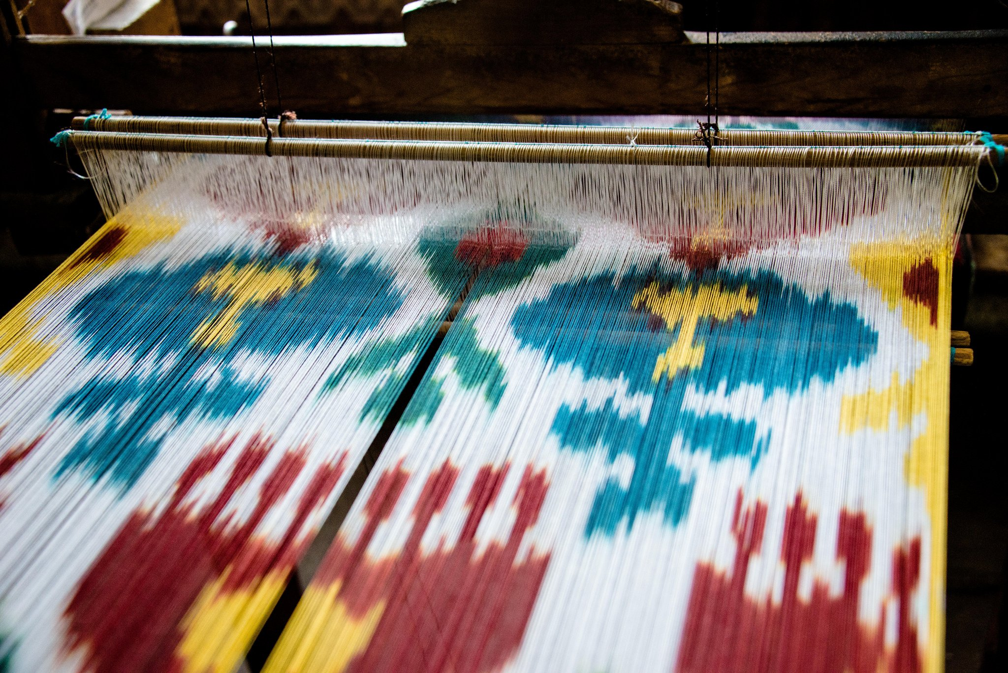 Ikat production. Image: 2008+ under a CC licence