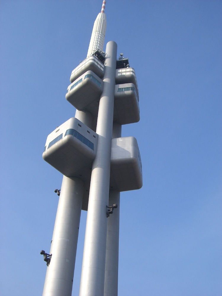 Žižkov radio tower, Prague. Image: Carolee Mitchell under a CC licence