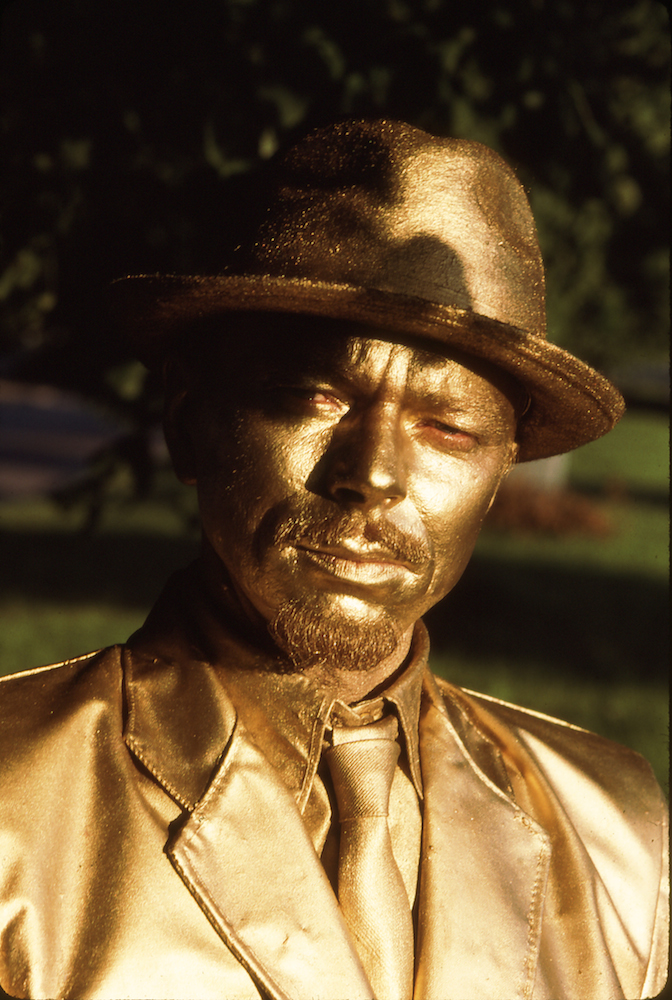 Miervaldis Polis as Bronze Man. Image: artist's own