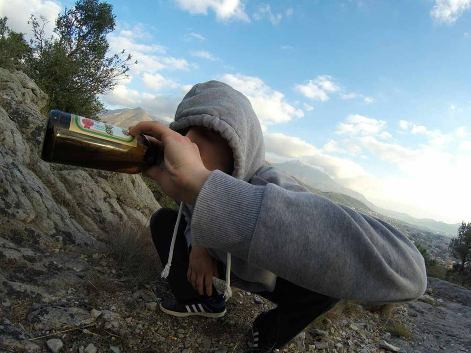 """""""Straight from Montenegro Wilderness"""" Image: Squatting Slavs in Tracksuits/Facebook"""