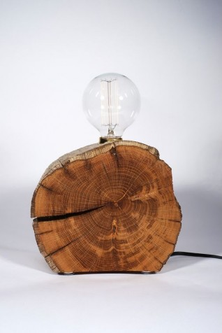 Rutten Oak Root Lamp