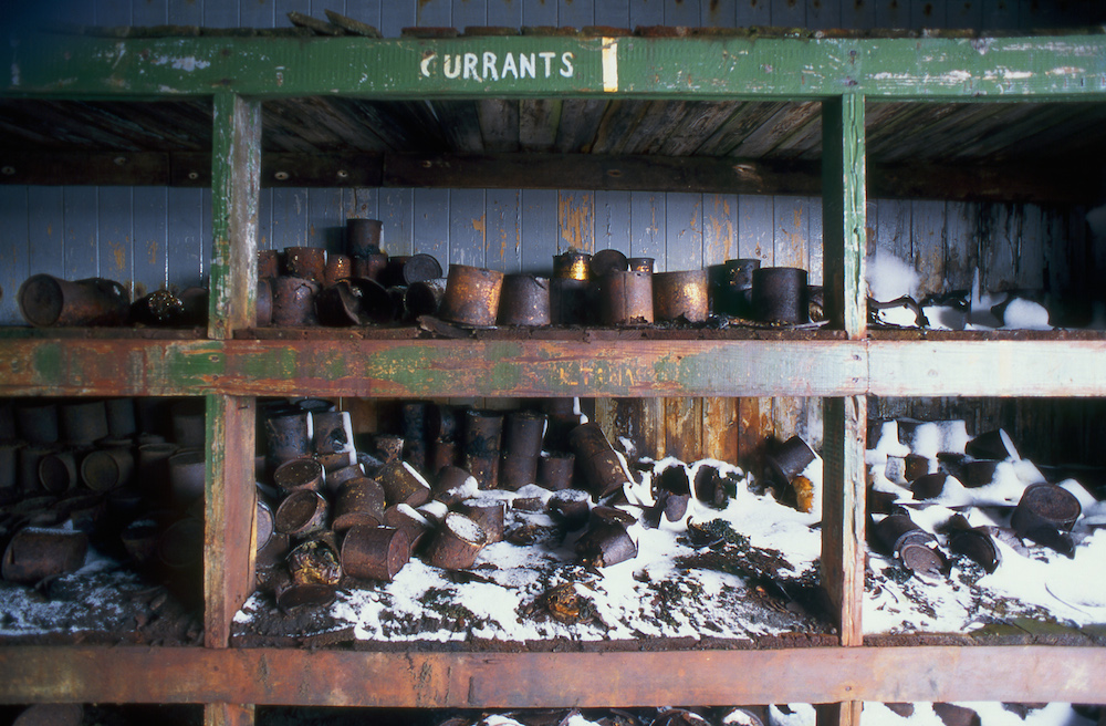 Provisions in a whaling station abandoned in 1931, Deception Island (Image: Sandy Nicholson)