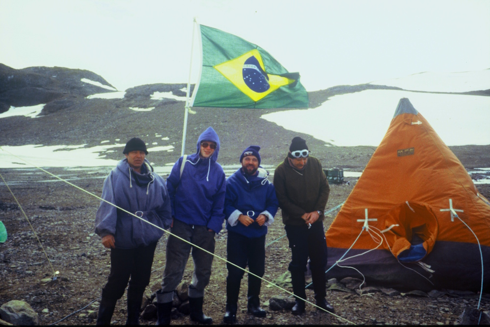 Visit with Russians to International Glaciology study camp, King George Island (Image: Carol Devine)