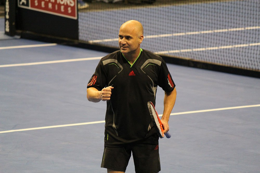 Tennis player Andre Agassi