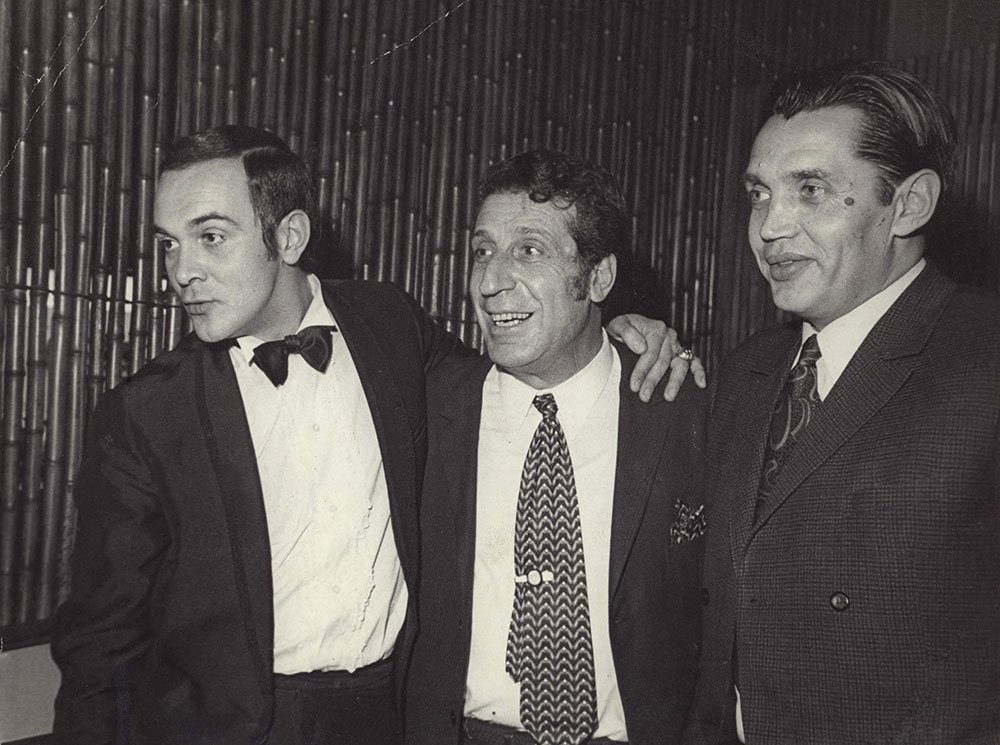 Soviet Armenian composer Arno Babajanian (middle)
