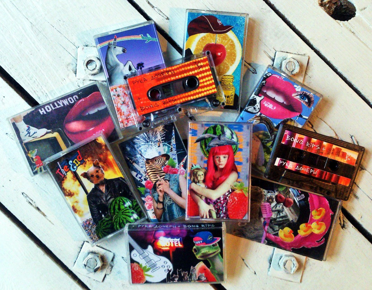 A mix of indie label cassettes. Image: Nastya Romakhova