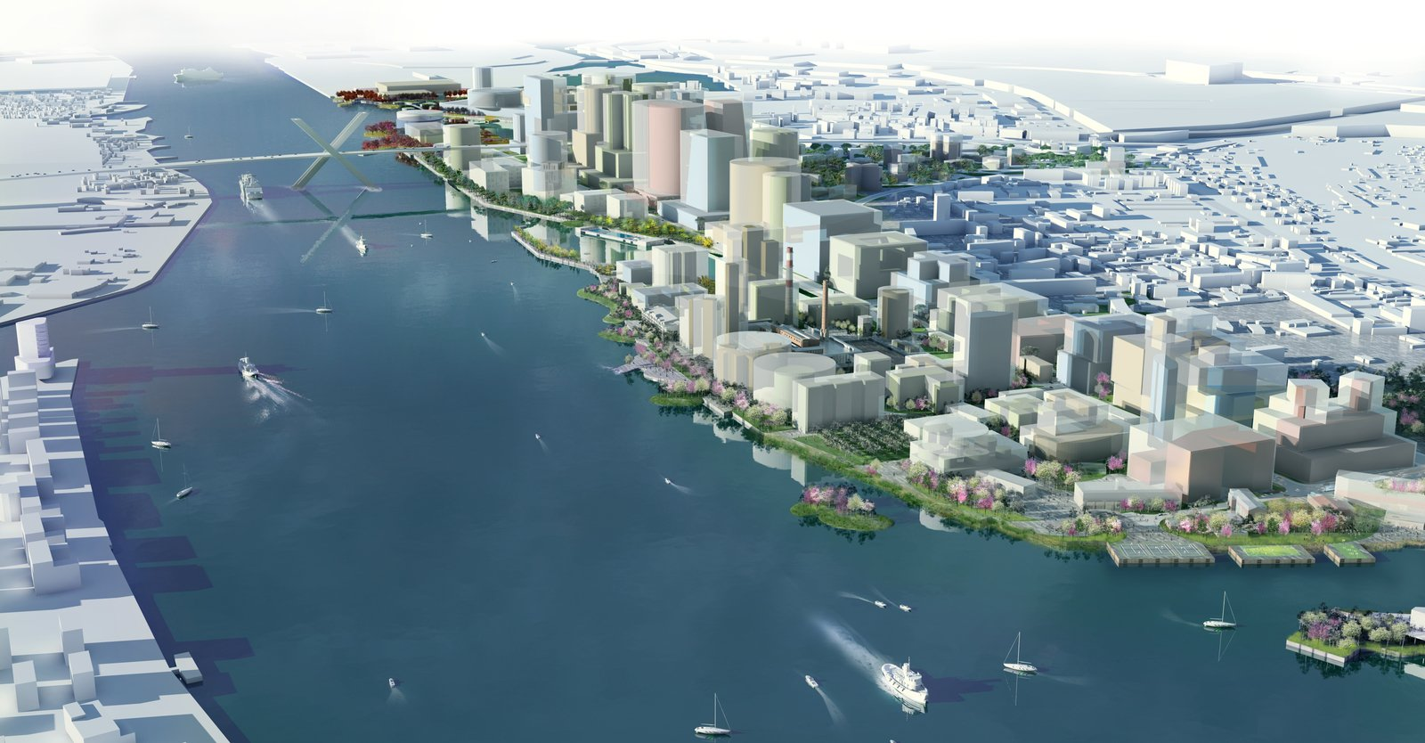 Riga Port City (Image: OMA visualisation)