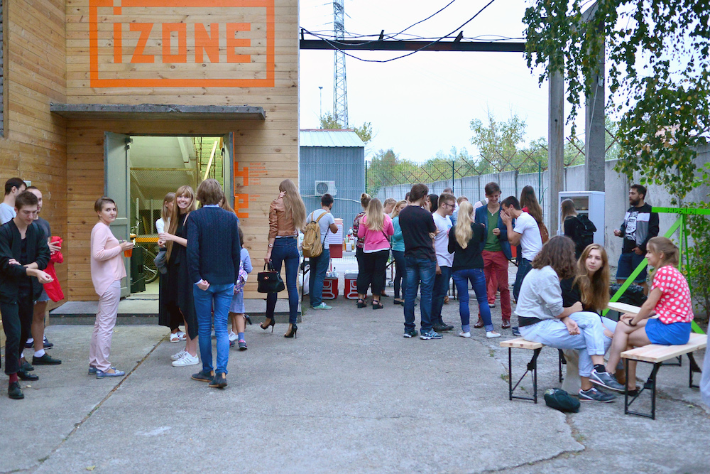 Opening of the Izone Creative Community in Kiev. Image: Dima Sergeev