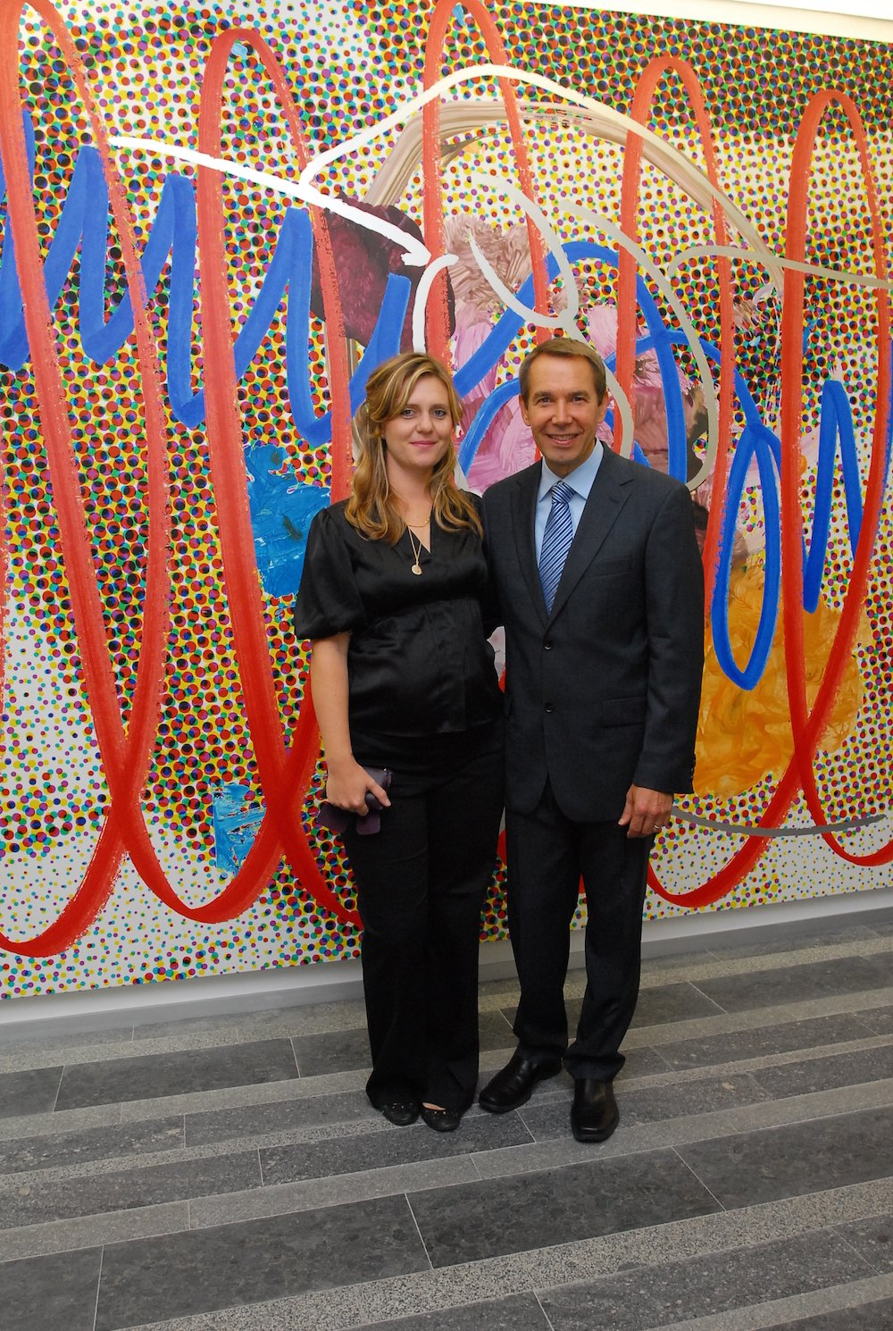 Jeff Koons and Justine Wheeler Koons at the Pinchuk Art Centre. Image: Pinchuk Art Centre/Sergei Illin