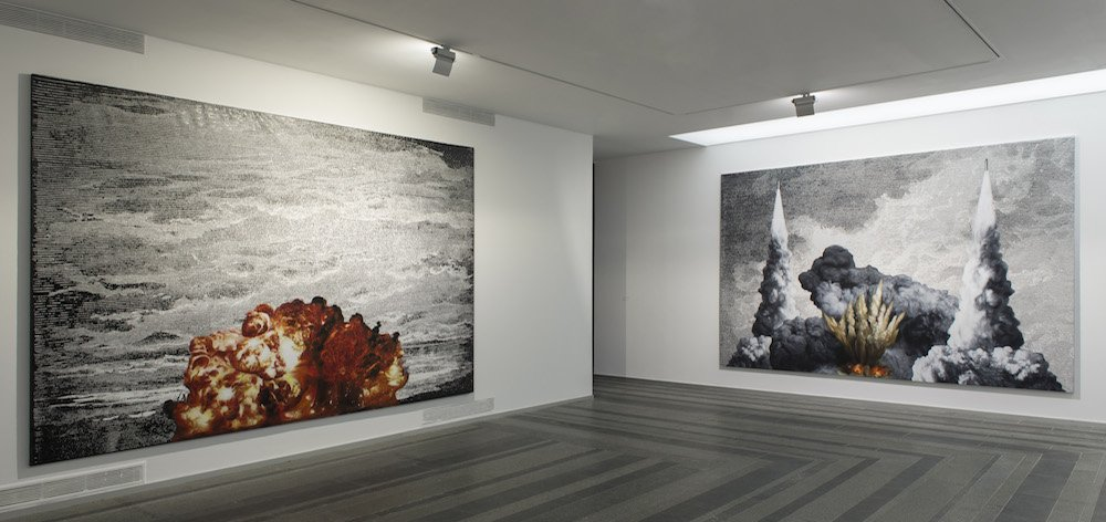 Work by Artem Volokitin in the <em>Fear and Hope</em> group exhibition, 2014. Image: Pinchuk Art Centre/Sergey Illin