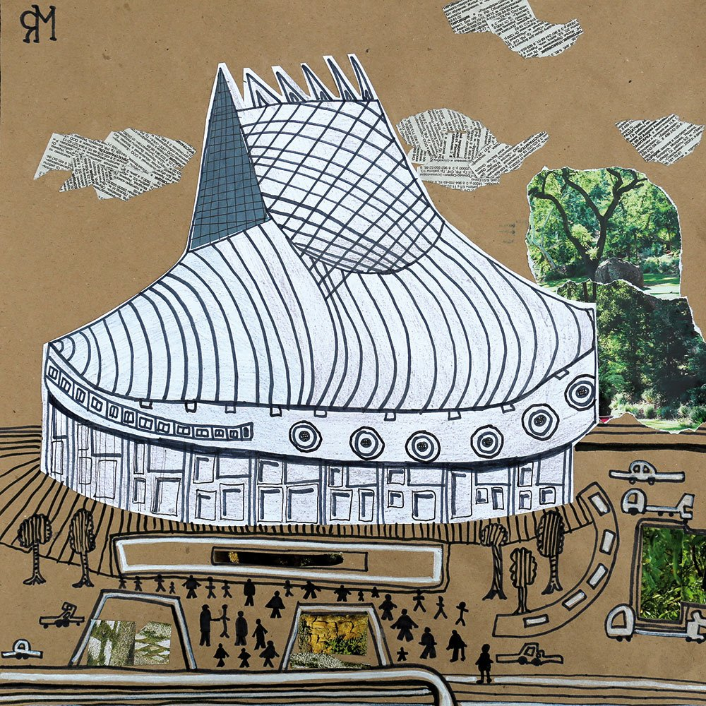 Children's drawings of Young Pioneer Palaces, created in the Children's Creative Studio at Union of Moscow Architects (Image: Strelka Institute)