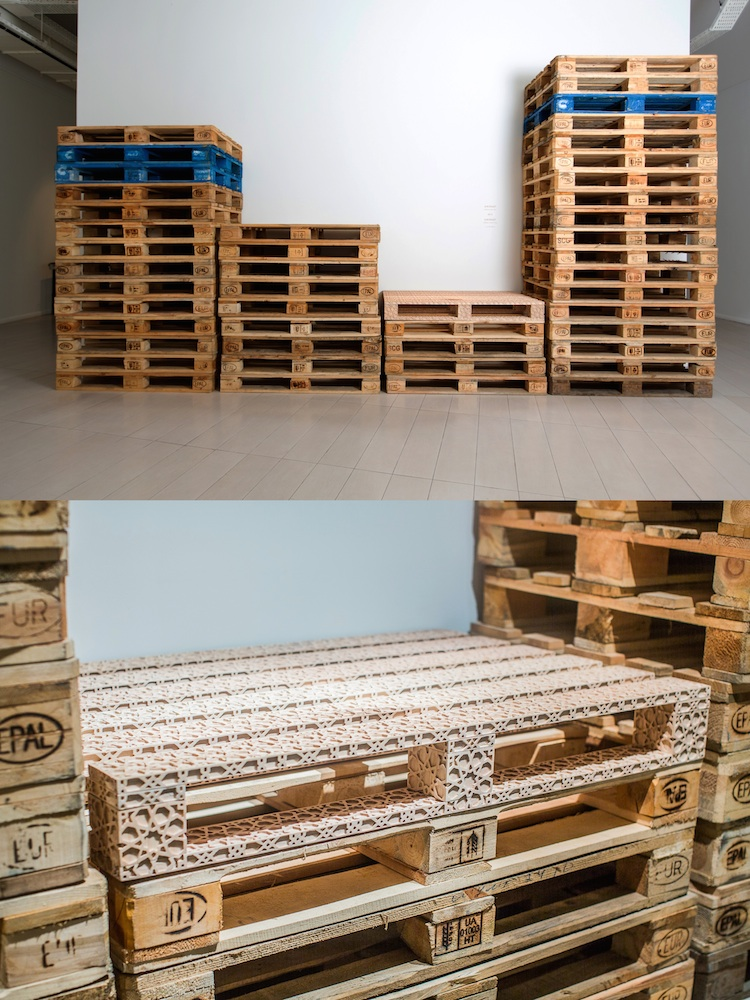 Europallets (2015) Image: Fakhriyya Mammadova, courtesy of the artist and YAY Gallery, Baku