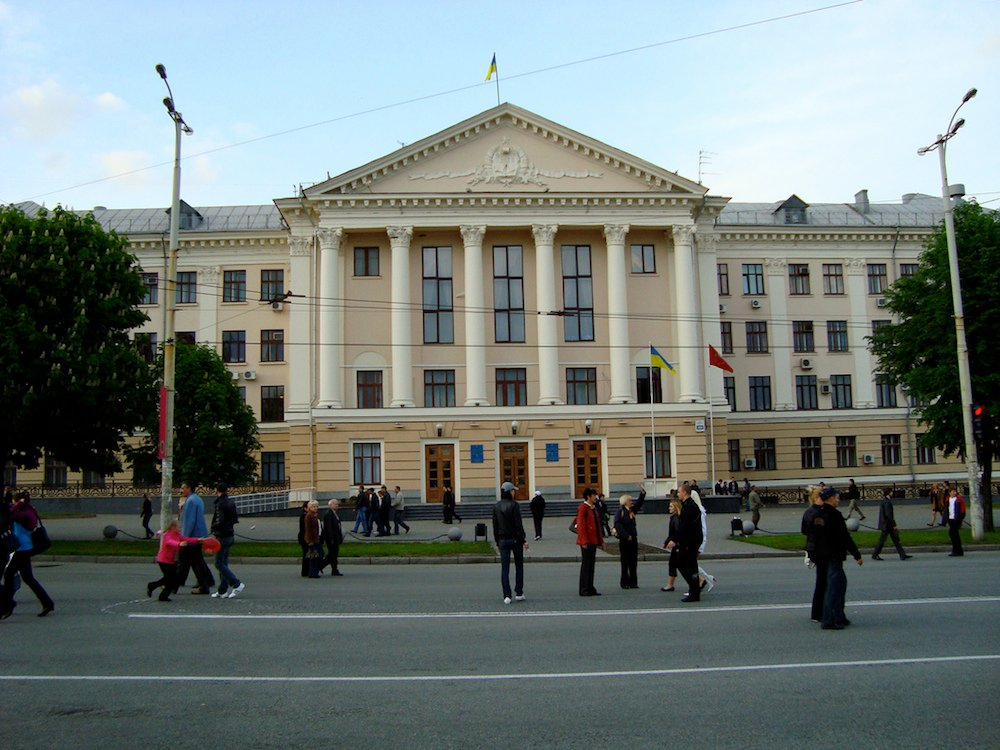 City Hall, Zaporizhia. Image: Anna Borzilo under a CC licence