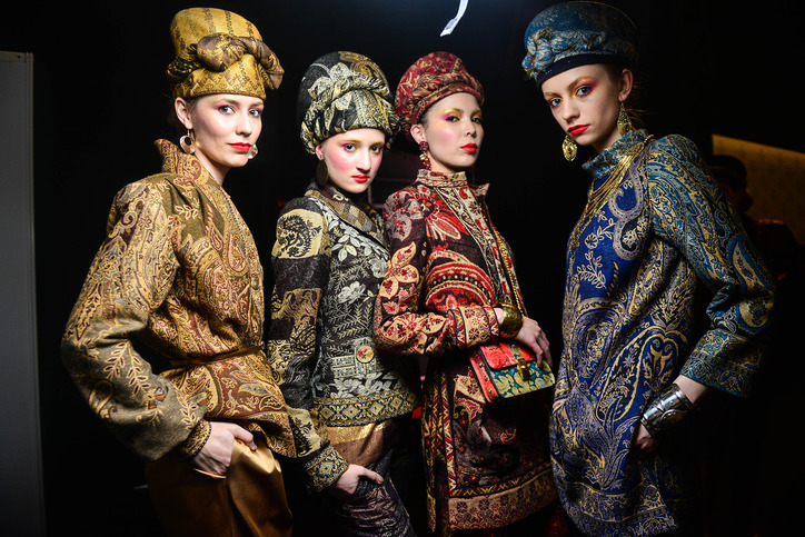 Backstage at Slava Zaitsev. Image: Mercedes Benz Fashion Week Russia
