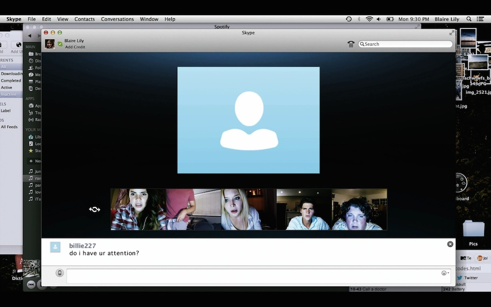 Still from <em>Unfriended</em> (2014)