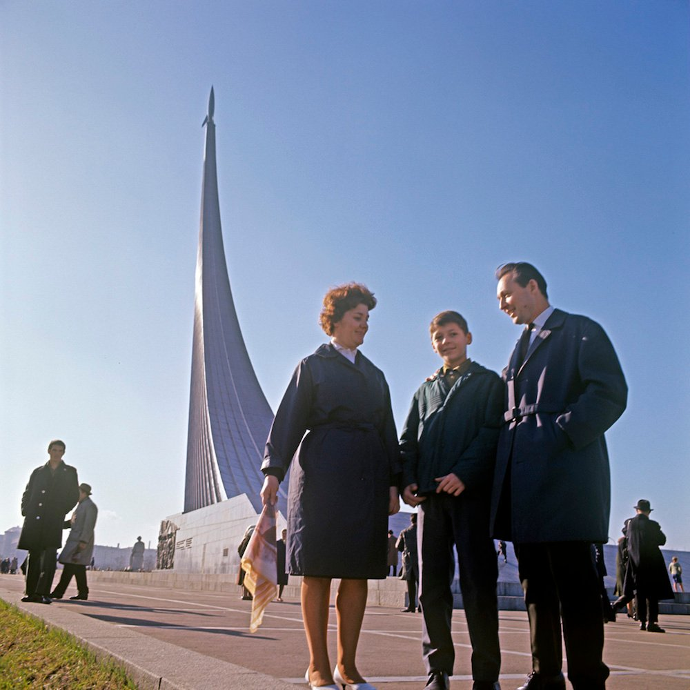 Archive photo of the Monument to the Conquerors of Space from the Soviet era (image: RIA Novosti/Aleksandr Nevezhin under a CC licence)