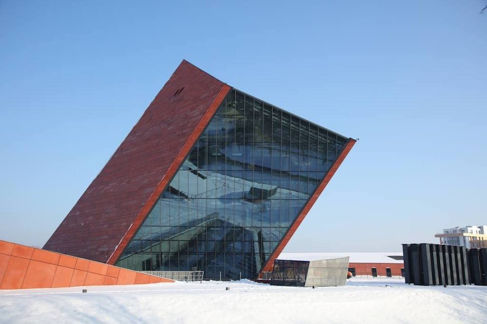 The main building of Gdańsk's new Museum of the Second World War. Image: Muzeum II Wojny Światowej/Facebook