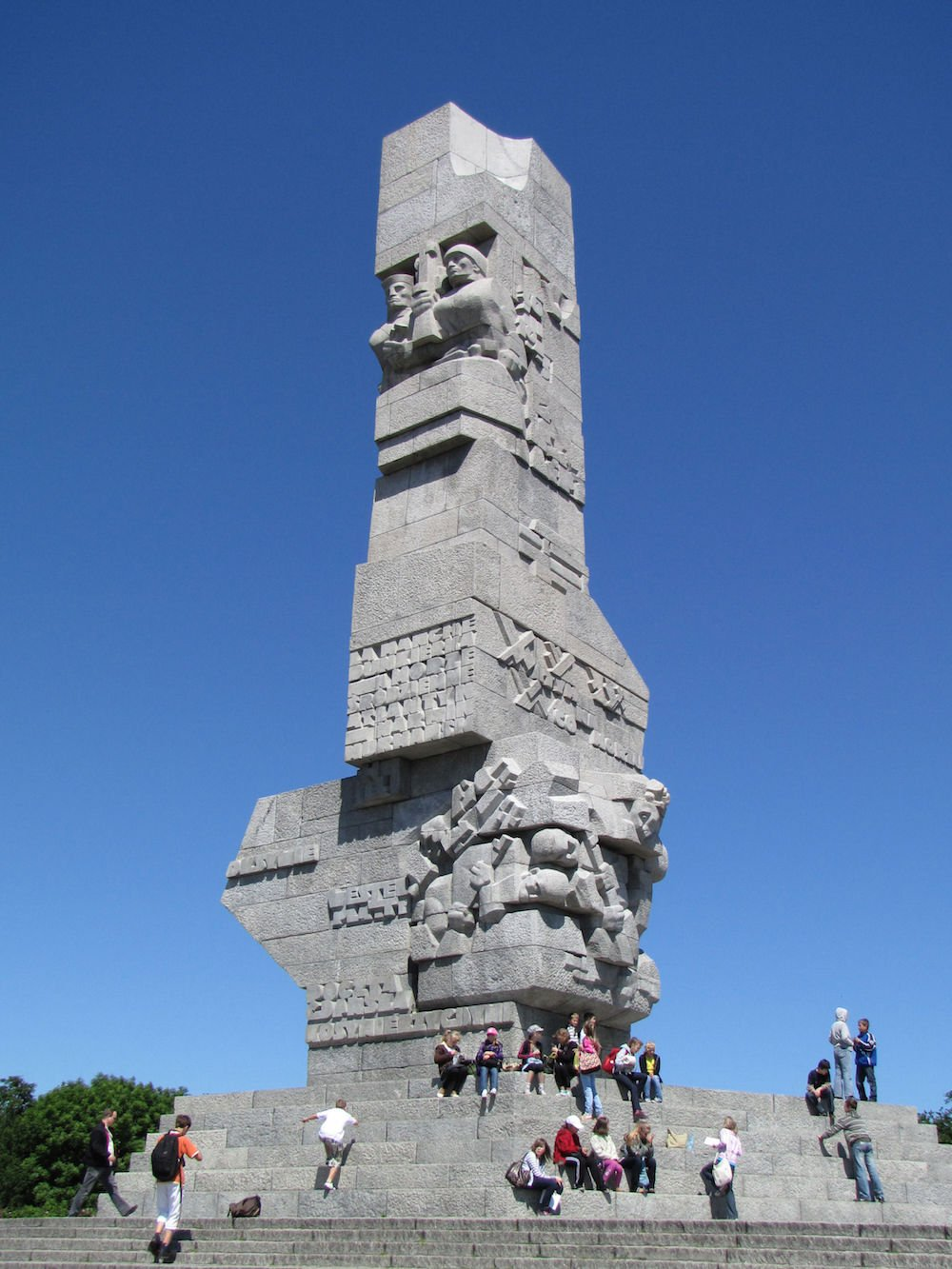 Monument to the Defenders of the Coast on the Westerplatte peninsula in Gdańsk. image: Holger Weinandt under a CC licence
