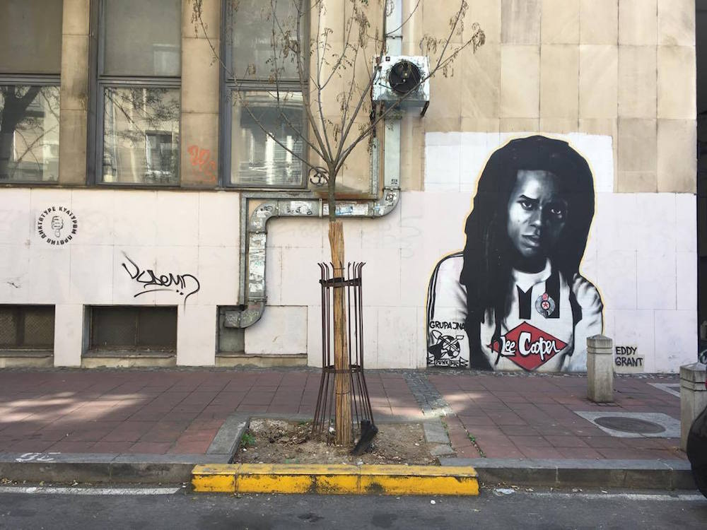 GTR graffiti of reggae legend Eddy Grant of The Equals in the Dorćol neighbourhood. Image: Staša Bajac