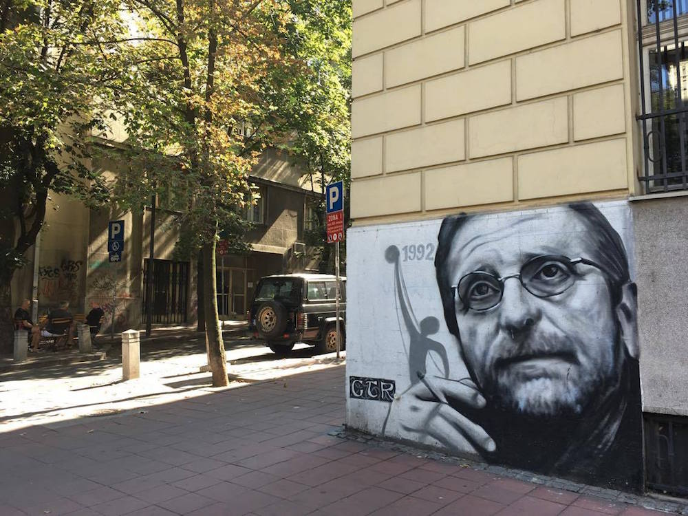 GTR graffiti of legendary Serbian actor Bogdan Diklić in the Dorćol neighbourhood. Image: Staša Bajac