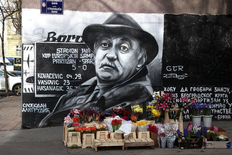 GTR graffiti of legendary Serbian actor Slobadan Aligrudić in the Dorćol neighbourhood. Image: espreso.rs