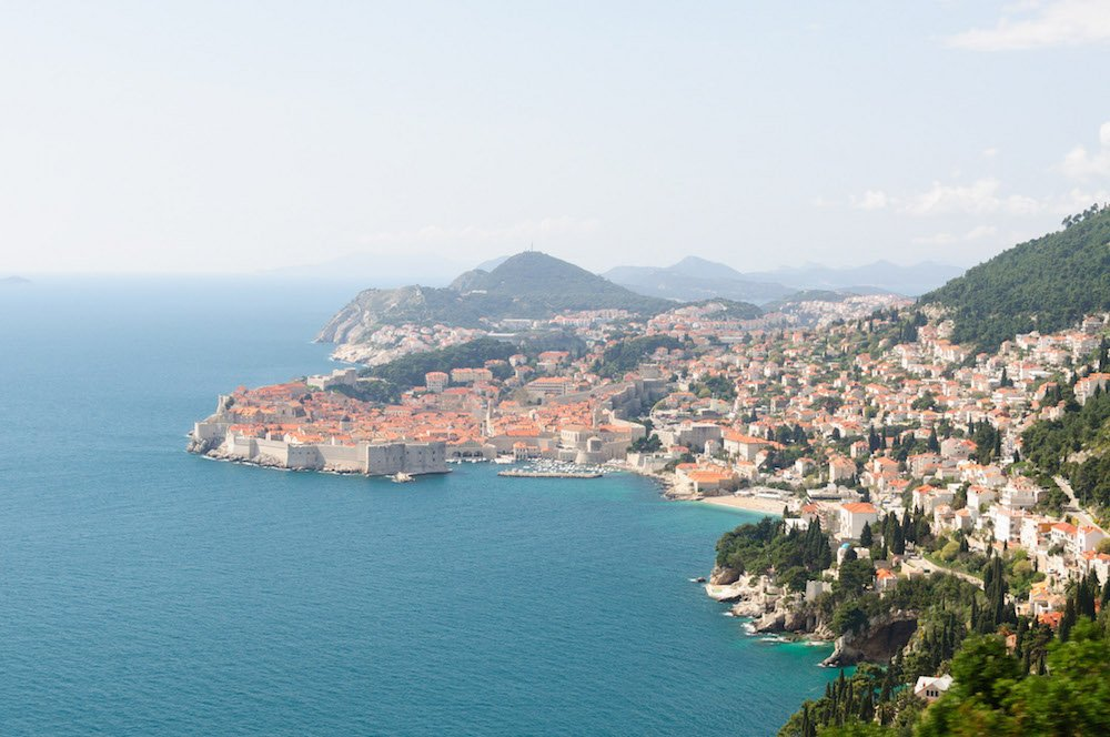 Dubrovnik viewed from the coastal road. Image: Alan Bloom under a CC licence
