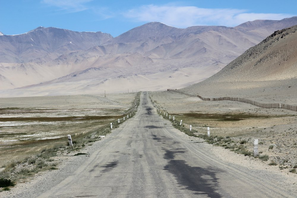 The Pamir Highway in Tajikistan. Image: mauro gambini under a CC licence