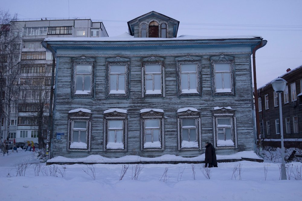 Wooden housing in Arctic Arkhangelsk. Image: Kenneth Mikko under a CC licence