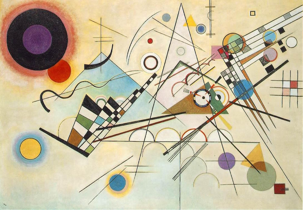 Wassily Kandinsky, 'Composition no. 8' (1923) (image by m.alcn.com under a CC licence)