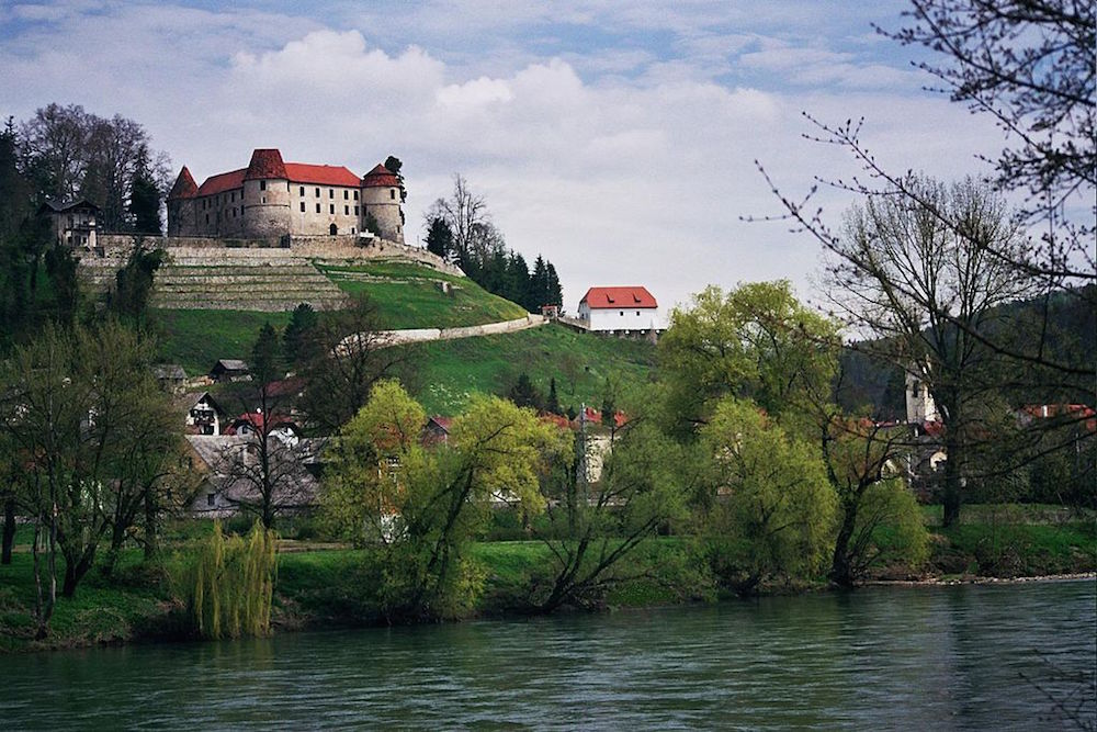 Melania Trump's hometown of Sevnica. Image: Marijan Latin under a CC licence