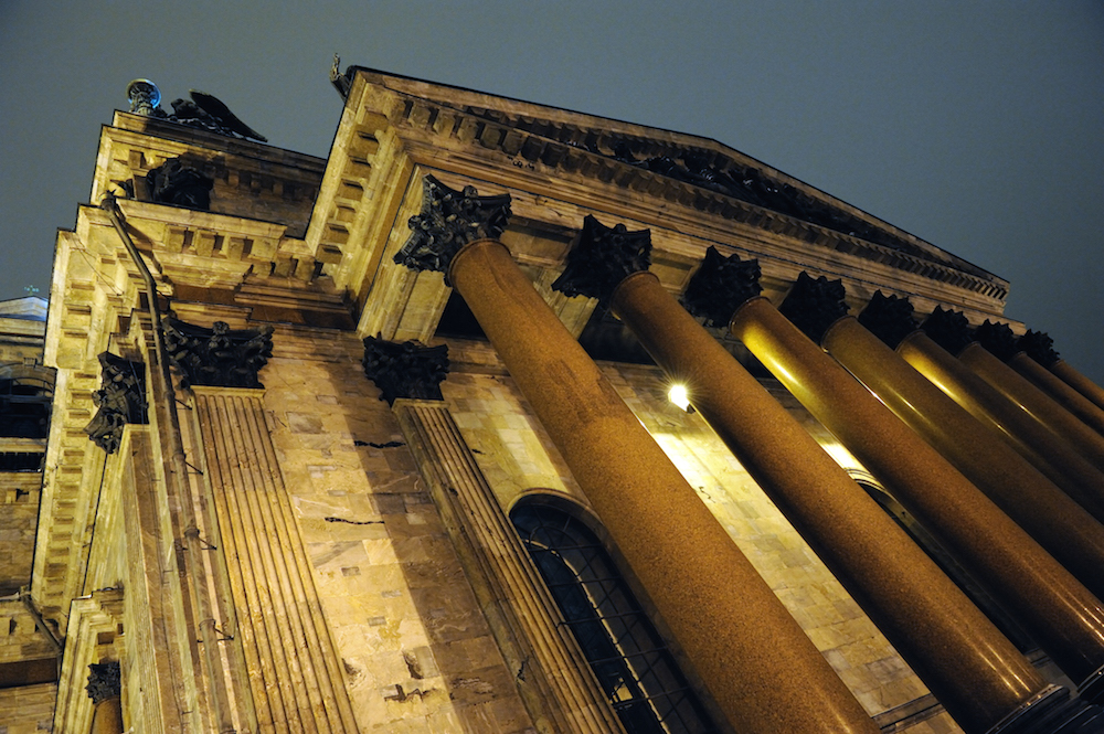 St Isaac's cathedral at night (Dmitry Khatov under a CC licence)