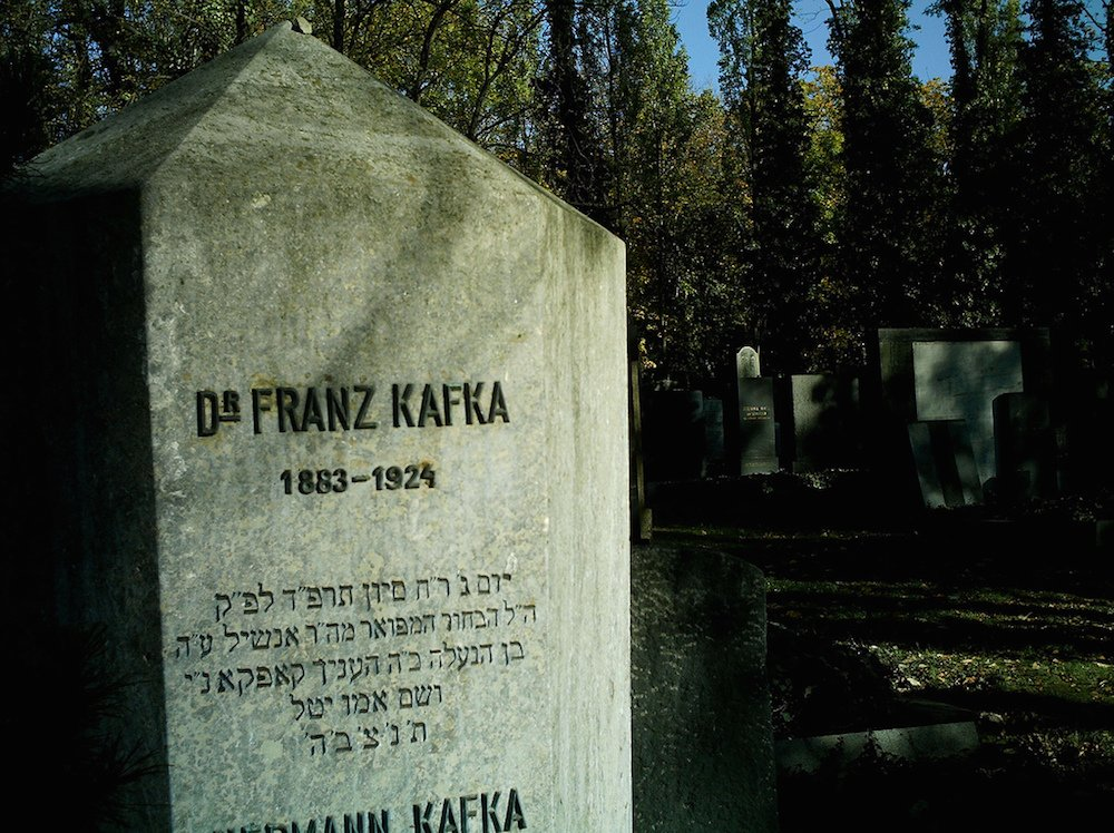 Kafka's grave in the New Jewish Cemetery. Image: Vanessa Nunes under a CC licence