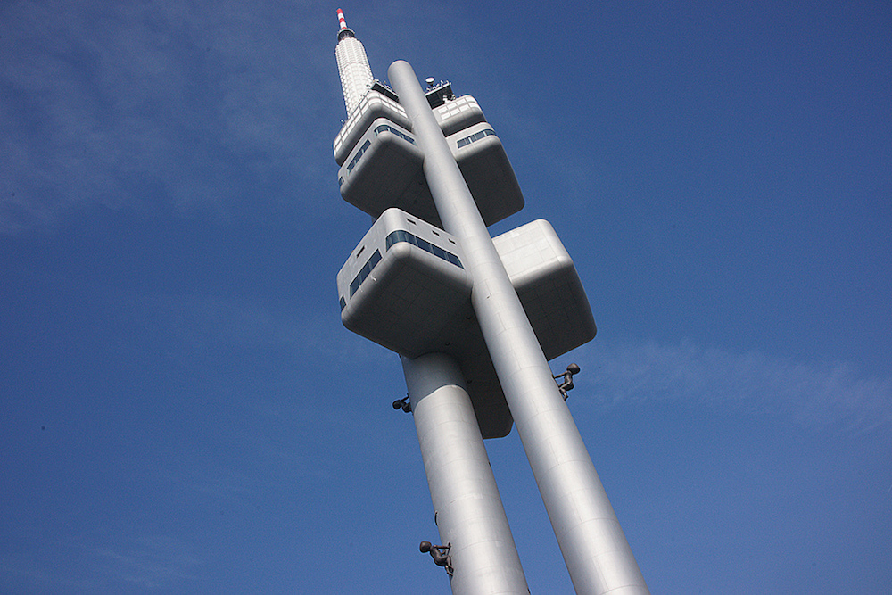 Prague's TV Tower. Image: Ian Britton under a CC licence