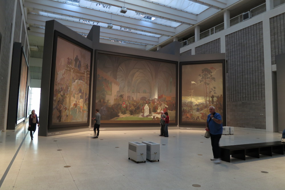 Part of <em>The Slav Epic</em> by Alphonse Mucha in the National Gallery's Veletržní palác. Image: Jiří Sedlàček under a CC licence