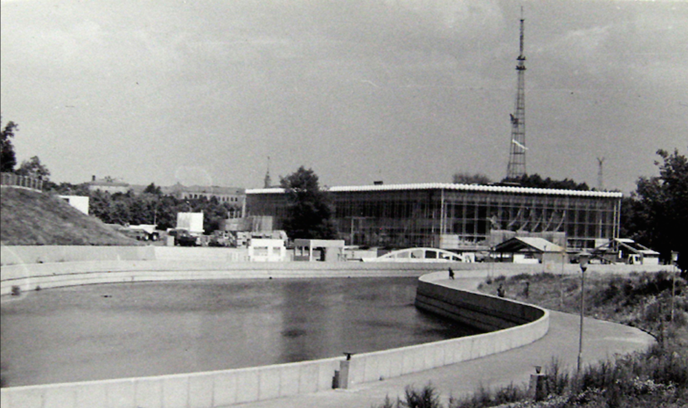 View of VDNKh on the banks of the Svislach in the 1960s