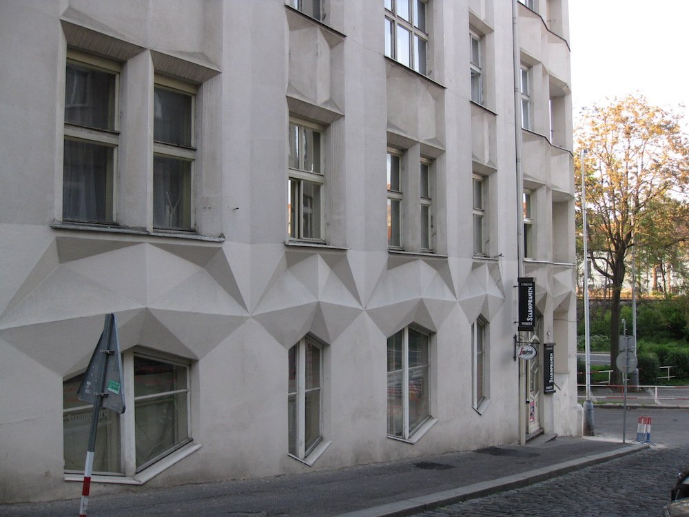 Cubist house on Neklanova Street. Image: Enfo under a CC license