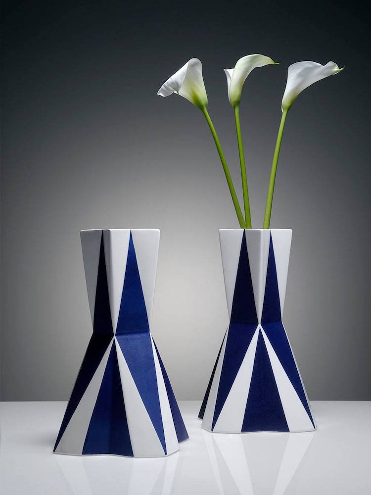 Cubist-inspired ceramics by Kubista brand