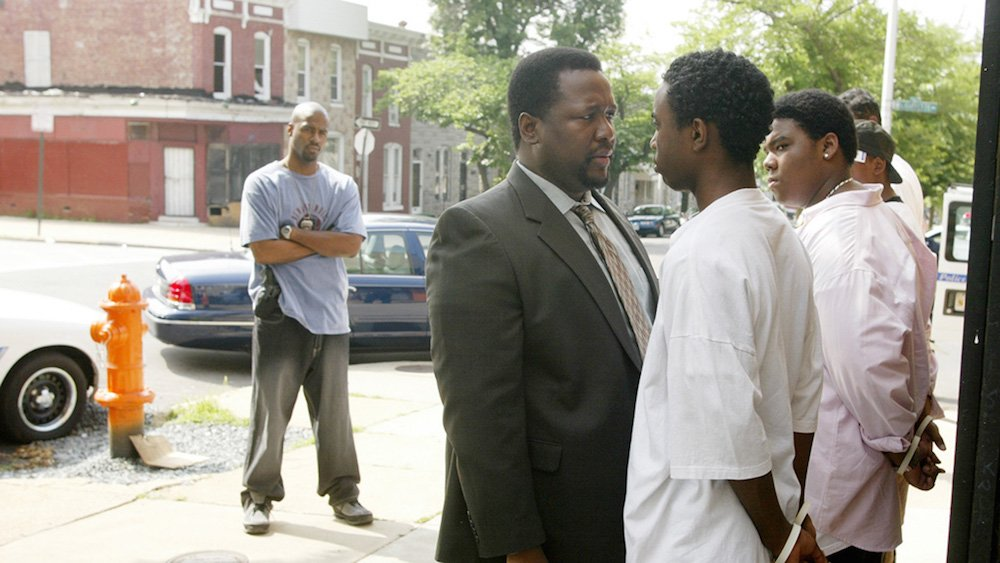 Still from <em>The Wire</em>, season four, episode 8 ('Corner Boys'), directed by Agnieszka Holland (image: HBO.com)