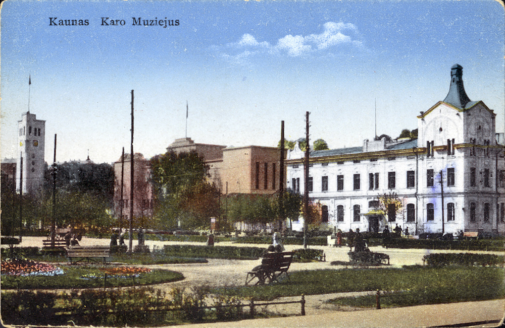 Historical postcard showing the Vytautas the Great Museum of War (image: elem under a CC licence)