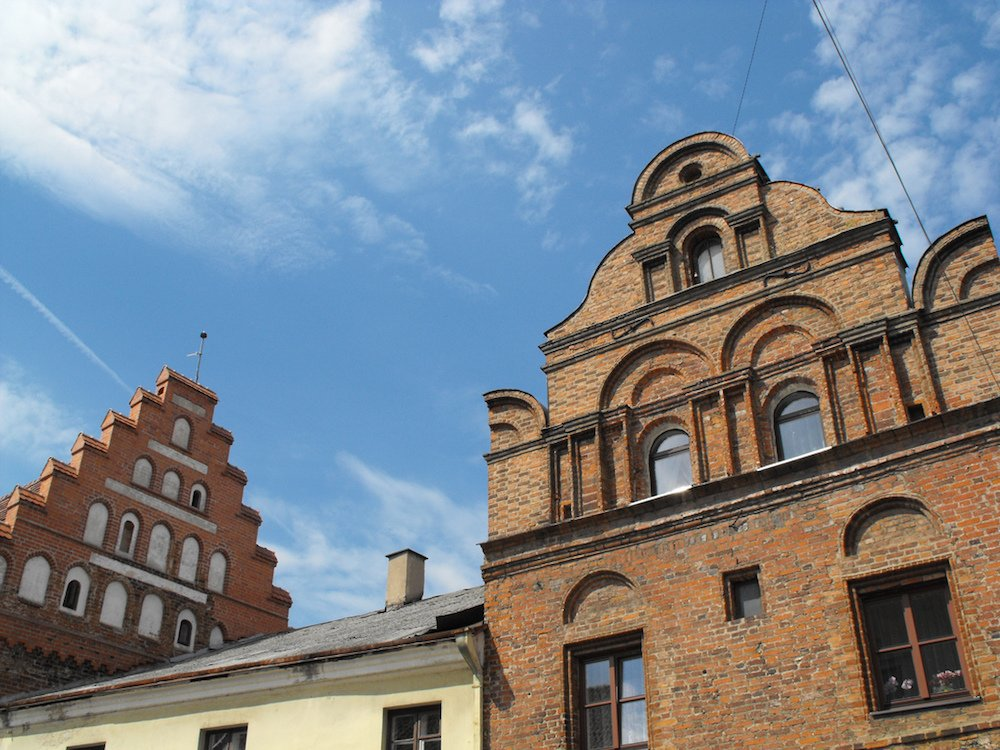 Architectural detail on Freedom Alley in Kaunas old town (image: darius norvilas under a CC licence)