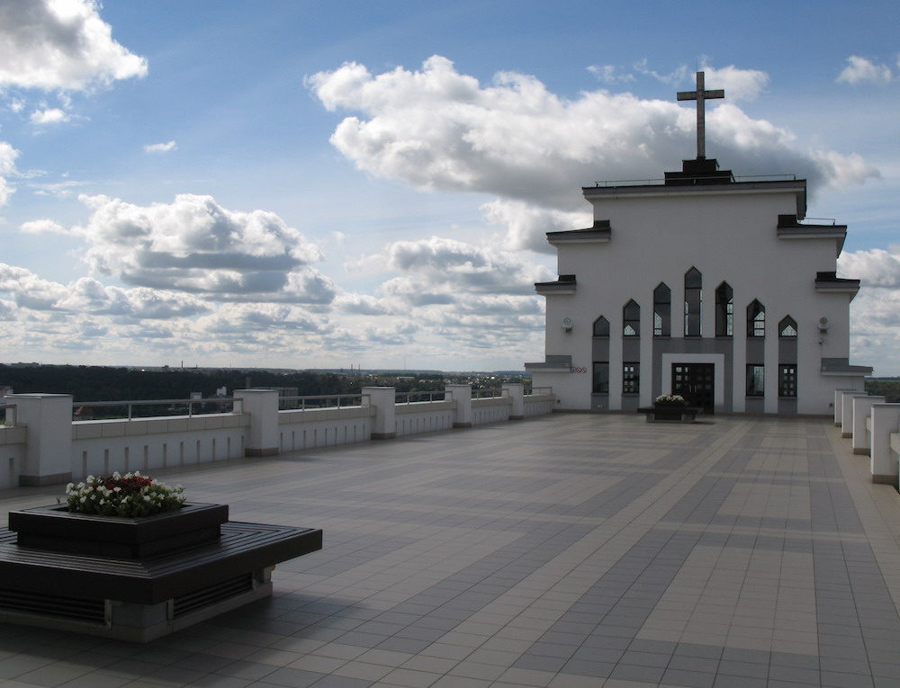 View from the roof terrace of Christ's Resurrection Church (image: Gytis Cibulskis under a CC licence)