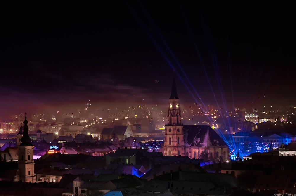 Fireworks over Cluj on New Year's Eve 2015. Image: Andrei105 under a CC licence