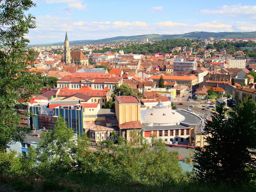View onto Cluj from the city Citadel. Image: CameliaTWU under a CC licence