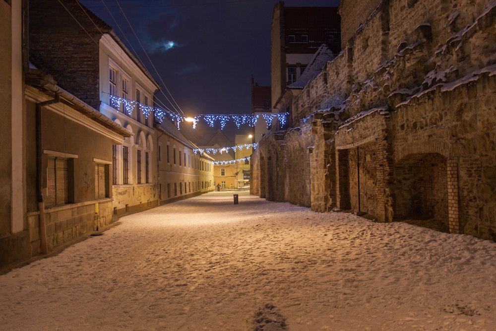 Cluj Old Town at night. Image: Marius Rusu under a CC licence
